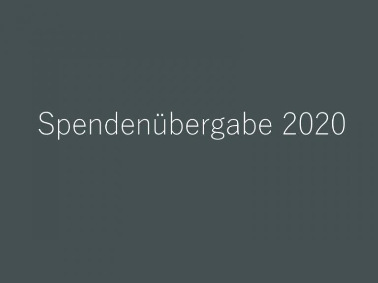 Spendenübergabe 2020